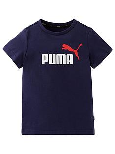 puma-boys-essential-2-colournbsplogo-short-sleeve-t-shirt-navy