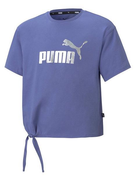 puma-girls-essentialnbsplogo-silhouette-t-shirt-blue