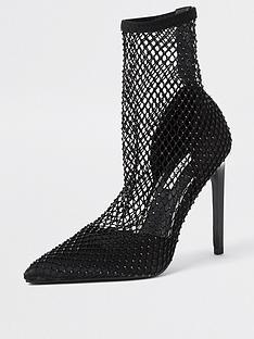 river-island-kliquemesh-heatseal-ankle-boot-black