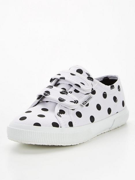 superga-polka-dot-strap-plimsoll-pump-whiteblack
