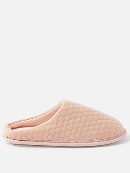 accessorize-bubble-stitch-slipper-pink