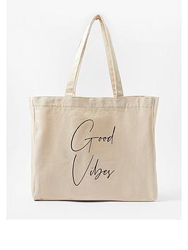 accessorize-good-vibes-slogan-shopper-white