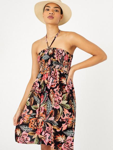 accessorize-print-bandeau-dress-multi