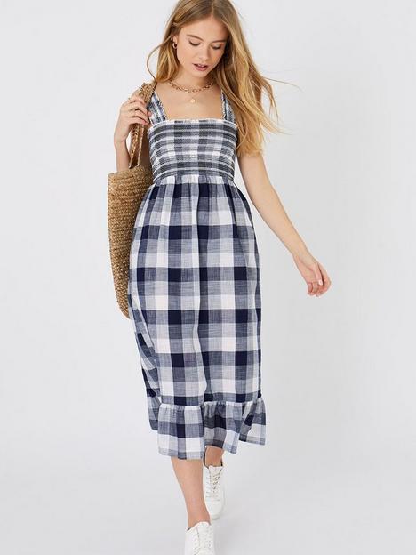 accessorize-gingham-midi-dress-navy