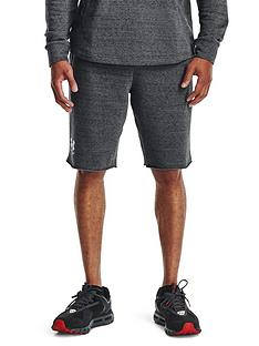 under-armour-rival-terry-shorts-greywhite