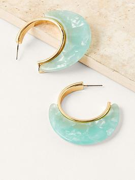 monsoon-resin-hoop-earring-gold