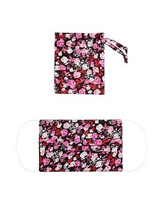 monsoon-pleated-bright-floral-face-covering-with-pouch-black