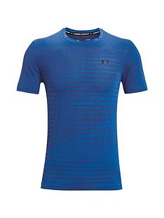 under-armour-trainingnbspseamless-fade-t-shirt-blueblack