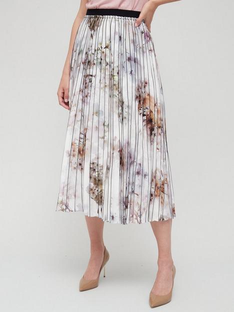 ted-baker-vanilla-printed-pleated-skirt-white