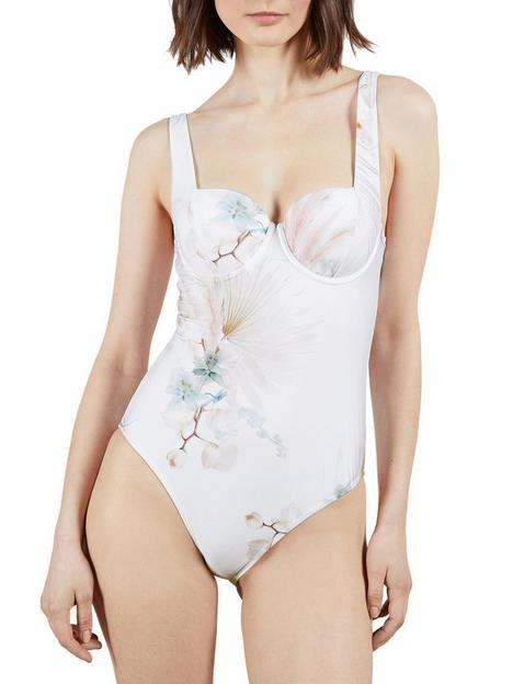 ted-baker-cupped-panel-swimsuit-white