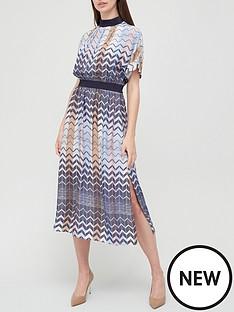 ted-baker-geo-printed-rib-detail-midi-dress-blue