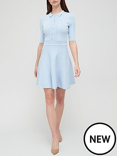 ted-baker-scallop-bodice-knitted-dress-blue