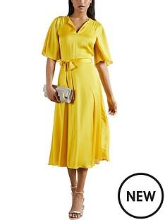 ted-baker-raglan-sleeve-tea-midi-dress-yellow