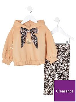 river-island-mini-girls-leopard-print-legging-and-hoodie-setnbsp--beige