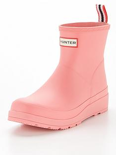 hunter-original-play-short-wellington-boot-pinknbsp