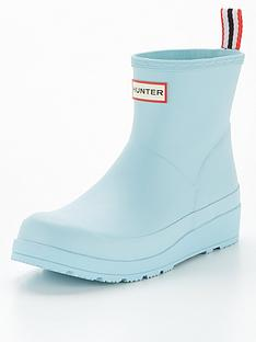 hunter-originalnbspplay-short-wellington-boot-bluenbsp
