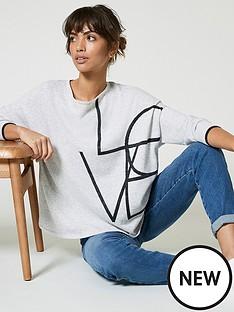 mint-velvet-love-graphic-jumper