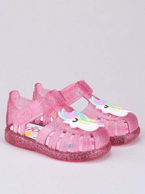 igor-girlsnbsptobby-unicorn-jelly-sandals-pink-glitter