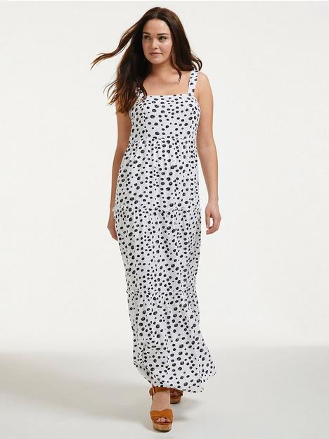 figleaves-tiered-spot-maxi-dress-whiteblack
