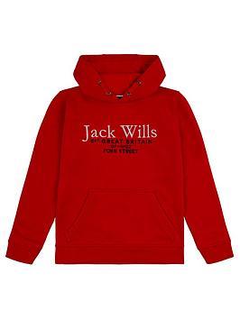 jack-wills-boys-script-hoodie-red