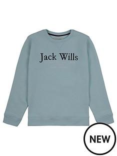 jack-wills-boys-script-crew-neck-sweat-top-blue