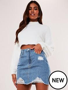 missguided-ripped-denim-mini-skirt