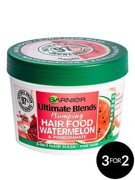 garnier-garnier-ultimate-blends-plumping-hair-food-watermelon-3-in-1-fine-hair-mask-treatment-390ml