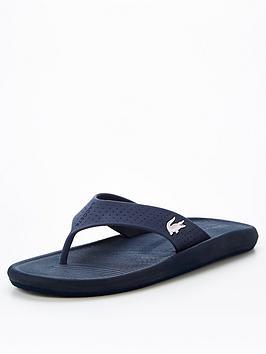 lacoste-croco-flip-flops-navynbsp