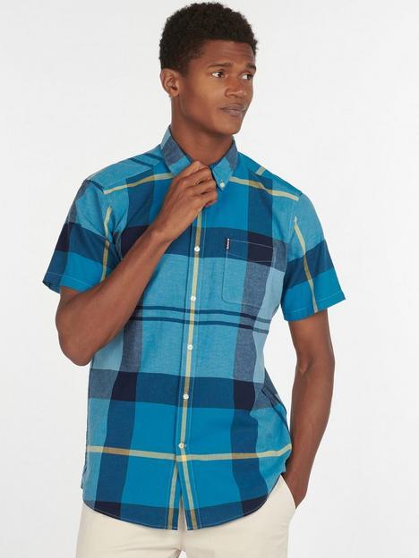 barbour-douglas-short-sleeve-shirt-aqua
