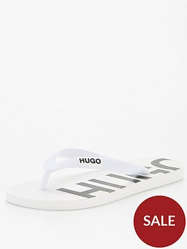 hugo-on-fire-flip-flops-white