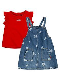 levis-baby-girls-pinafore-dress-and-t-shirt-set-bluered