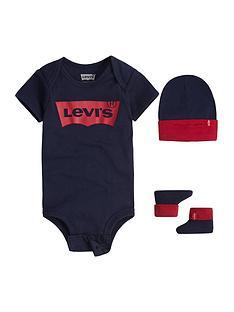 levis-baby-boys-batwing-hat-bodysuit-and-bootie-set-navy