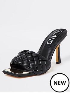 river-island-woven-heeled-mule-black