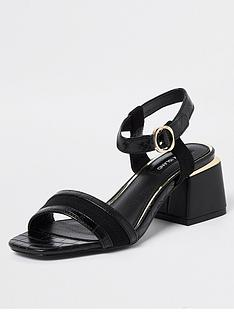 river-island-gold-trim-block-heel-sandal-black
