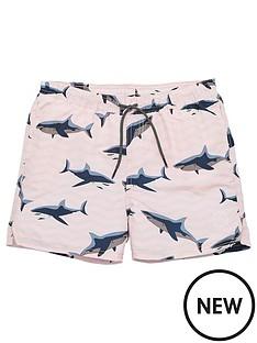 jack-jones-junior-boys-shark-print-swimshorts-pink-dogwood