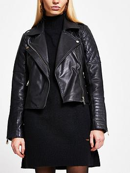river-island-quilted-placket-leather-biker-jacket