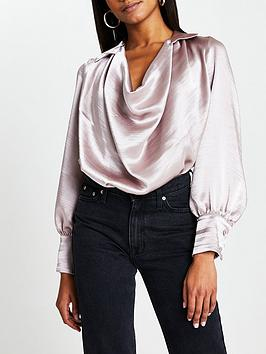 river-island-cowl-neck-long-sleeve-blouse--pink