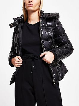 river-island-high-shine-clean-padded-jacket-black