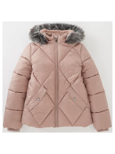 v-by-very-girls-diamond-pearlized-faux-fur-hooded-halfnbsplined-jacket-pink