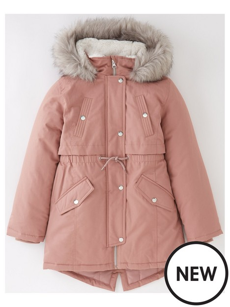v-by-very-girls-faux-fur-hooded-half-fur-linednbspparka-back-to-schoolnbsp-nbsppink