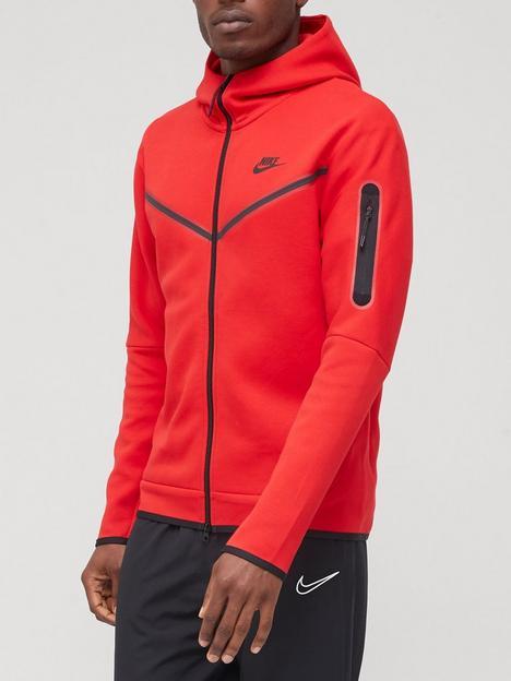 nike-tech-fleece-full-zip-hoodie-red