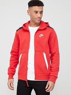 nike-air-contrast-block-full-zip-hoodie-red