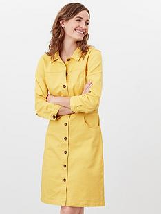 joules-denim-dress-yellow
