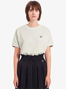 fred-perry-boxy-pique-t-shirt-white