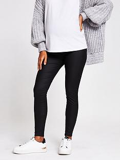 river-island-maternity-coated-molly-overbump-jegging-black