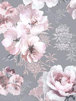 catherine-lansfield-dramatic-floral-grey-wallpaper