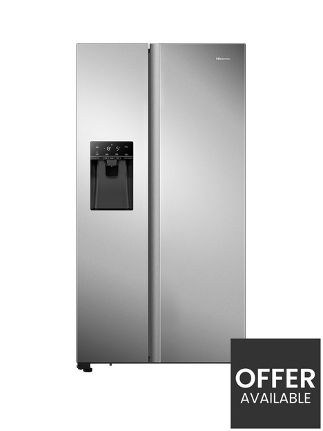 hisense-rs694n4tcf-91cm-wide-total-no-frost-american-style-fridge-freezer-stainless-steel-look