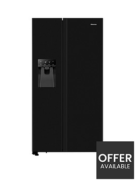hisense-rs694n4tbf-91cm-wide-total-no-frost-american-style-fridge-freezer-black-look