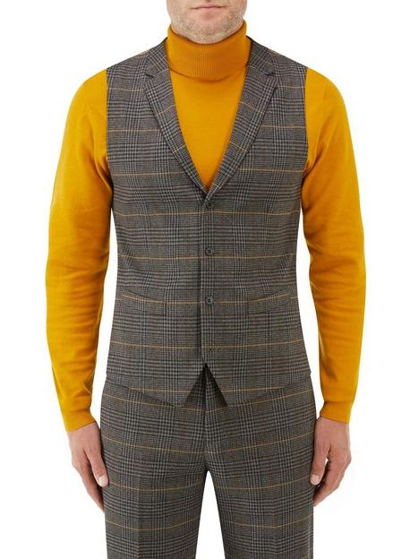 skopes-leahy-standard-v-with-lapel-waistcoat-brown-check