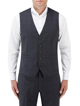 skopes-momoa-standard-v-waistcoat-navycheck